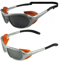 Sports sunglasses with back strap